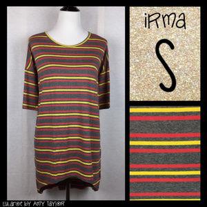 NWT LuLaRoe Irma Tunic - Stripes - S